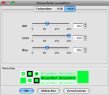 RGB Colour Selection Dialog