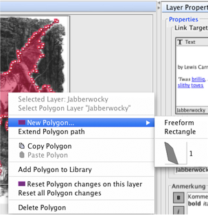 Context Menu of the Modify Polygons Panel