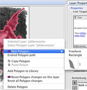Context Menu of the Modify Polygons Panel